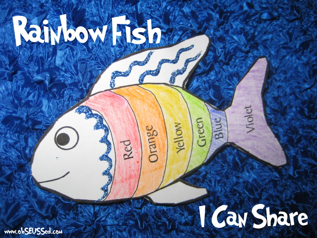 Rainbow fish activities for preschoolers for Fish crafts for preschoolers