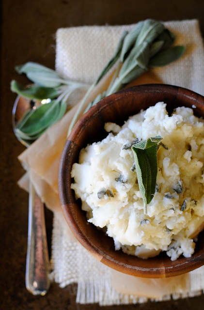 Side Dish: Creamy Mashed Potatoes With Goat Cheese and Fresh Sage