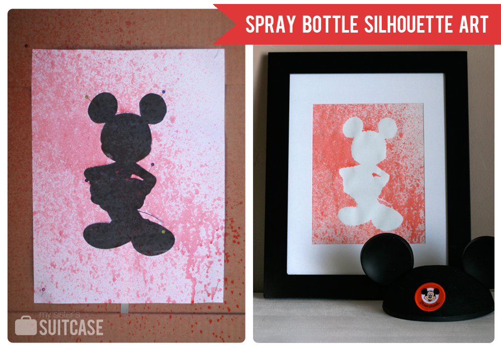 Silhouette Art Spray Bottle