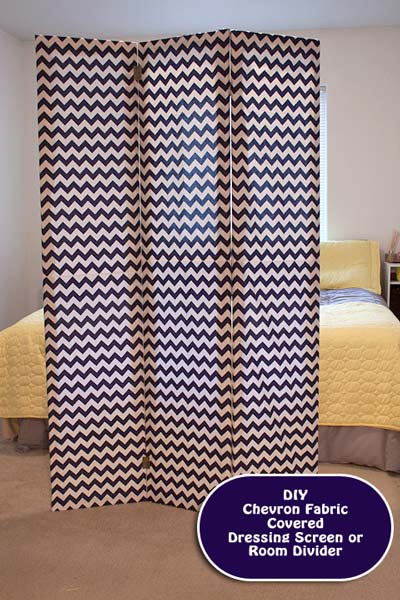 DIY: How to Make a Chevron Room Divider or Dressing Screen