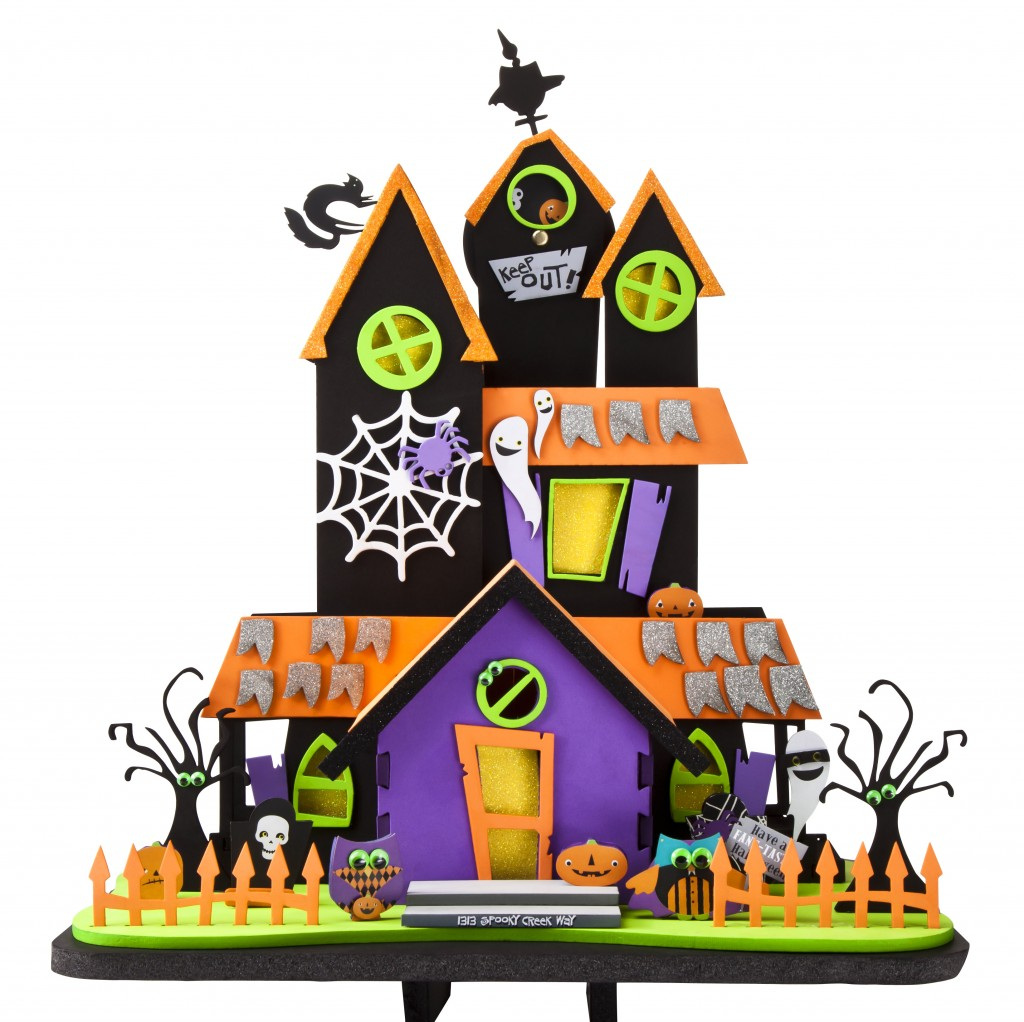 Halloween haunted house craft