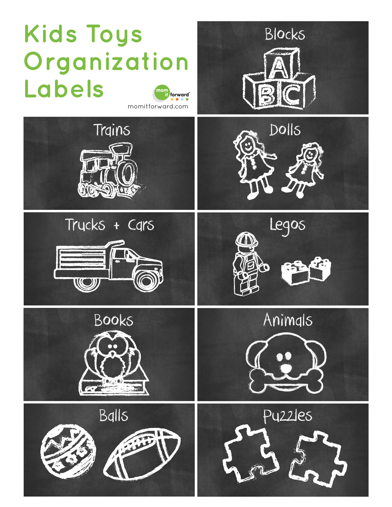 Kids Toys Organization Labels Printable Mom It