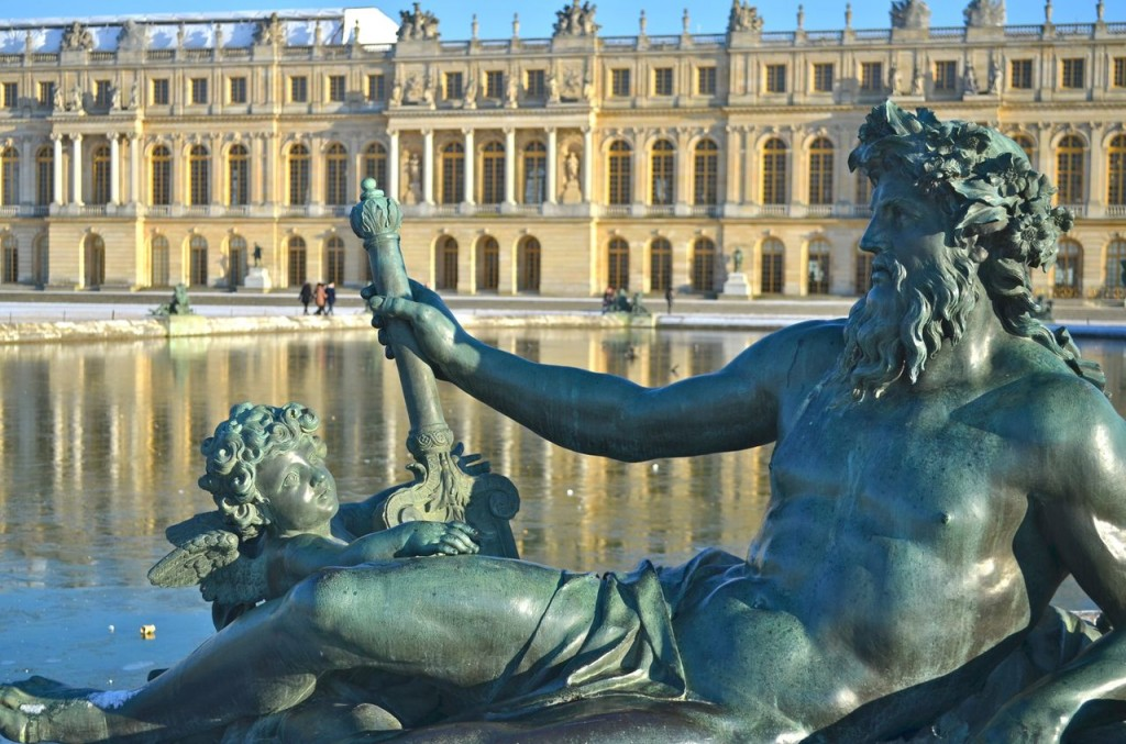 Versailles-Zeus-Cherub-France-Paris-Reflection Pond-Travel to Paris