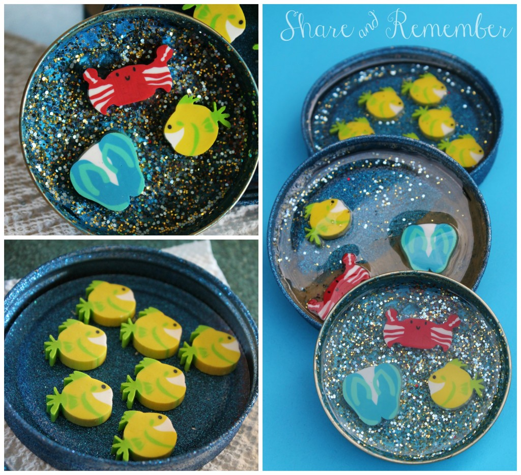 Ocean Jar Lid coasters Craft