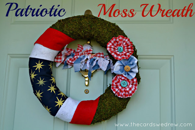 Patriotic+Moss+Wreath