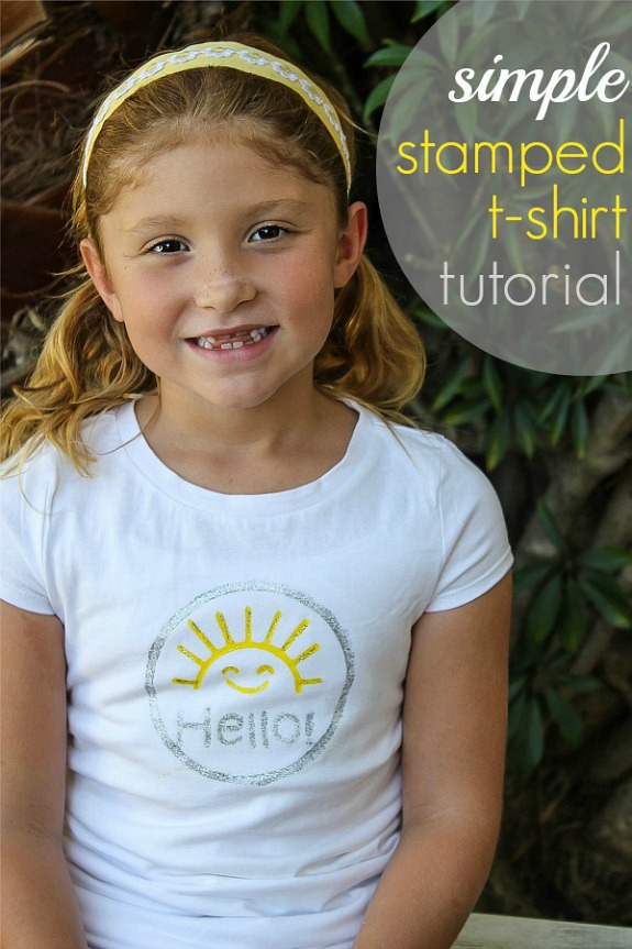 Hello sunshine! A simple stamped t-shirts tutorial for kids