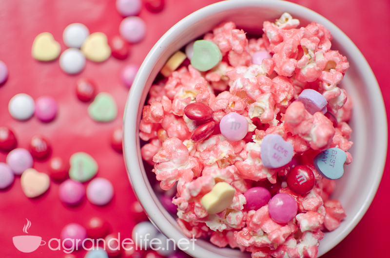 Valentines day candied popcorn recipe