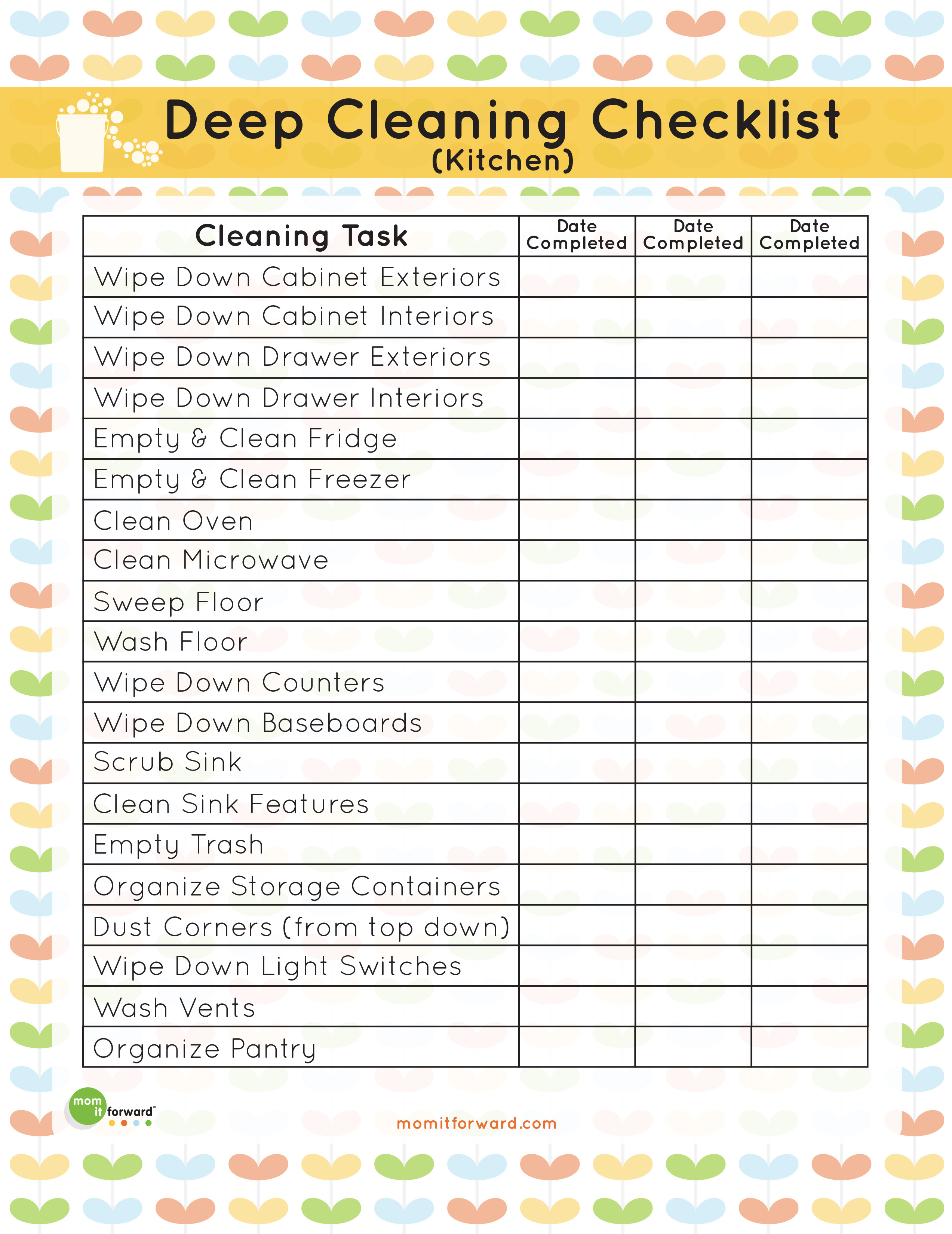 kitchen cleaning checklist - Gecce.tackletarts.co