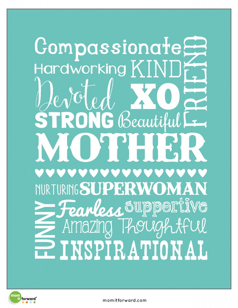 mother u0026 39 s day word art printables