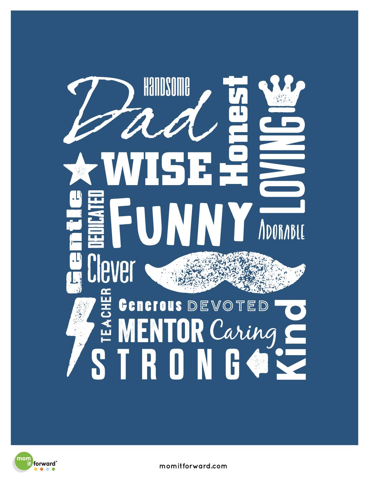 Father's Day Word Art Printable - Mom it Forward