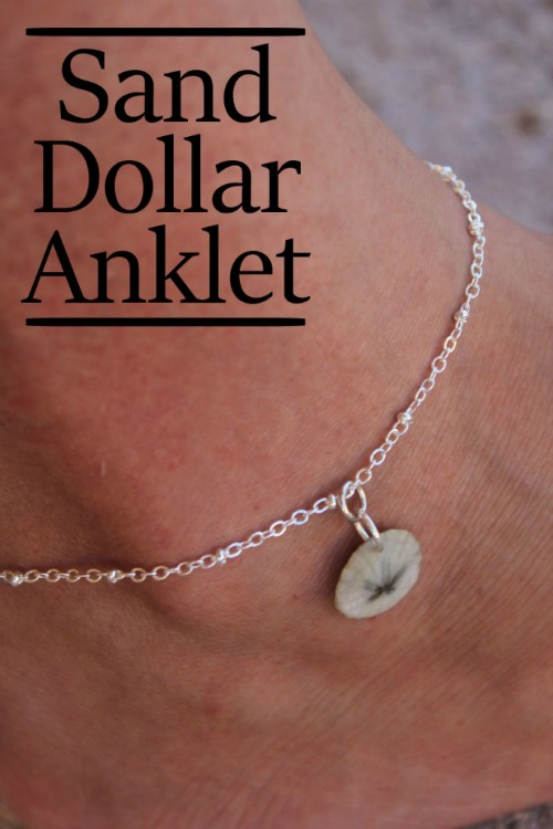 Sand Dollar Anklet Making Jewelry Diy Mom It Forward