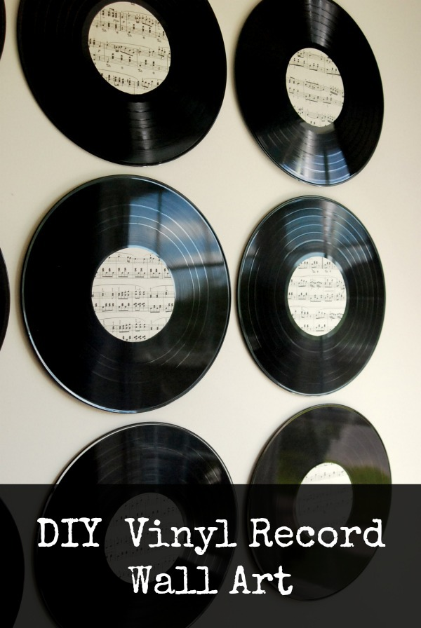 Vinyl Record Wall Art DIY - Mom it Forward