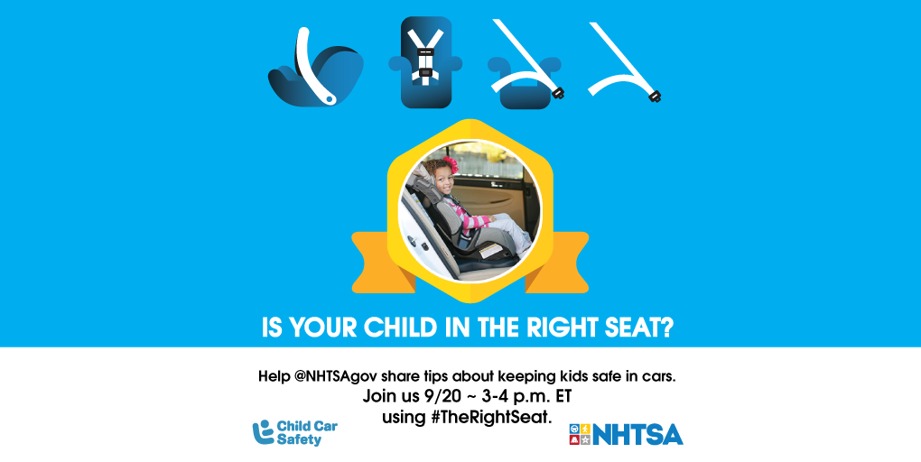 Join the car seat safety Twitter chat for Safety Week!