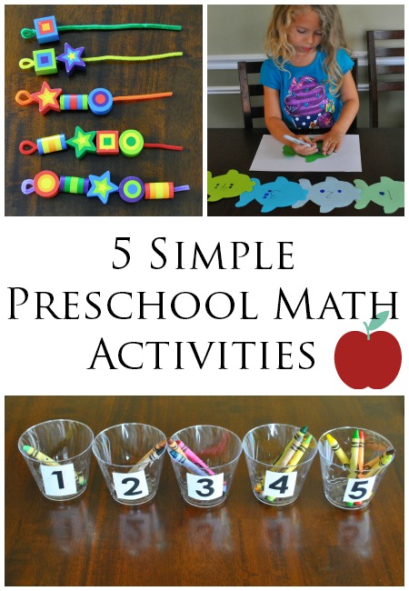 5 Simple Preschool Math Activities - Mom it Forward