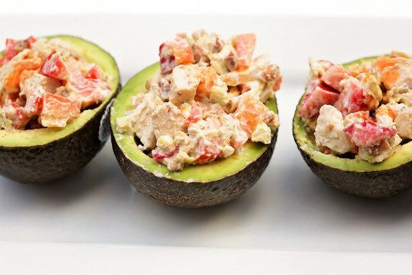 Delicious Spicy Chicken Salad Avocado Bowls Will Make Avocado Appetizer Recipe